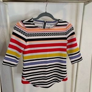 Colored stripes top